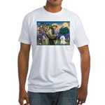 St Francis / Bichon Frise Fitted T-Shirt