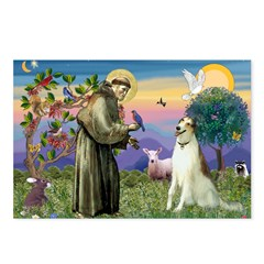 St Francis & Borzoi Postcards (Package of 8)