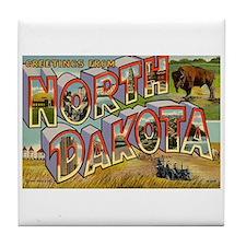 North Dakota ND Tile Coaster