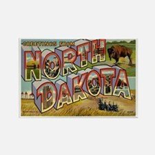 North Dakota ND Rectangle Magnet