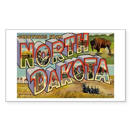 North Dakota ND Rectangle Sticker