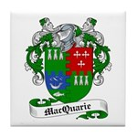 MacQuarrie Family Crest Tile Coaster