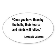 Johnson Hearts and Minds Quote Oval Decal