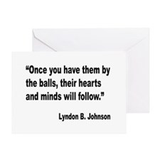Johnson Hearts and Minds Quote Greeting Card