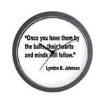 Johnson Hearts and Minds Quote Wall Clock