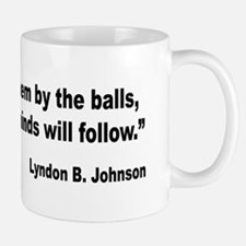 Johnson Hearts and Minds Quote Mug
