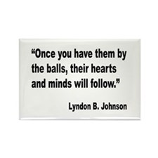 Johnson Hearts and Minds Quote Rectangle Magnet