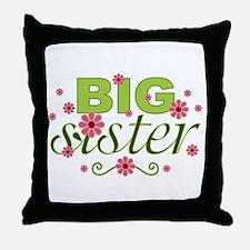 Big Sister Garden Flowers Throw Pillow