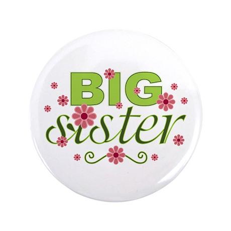 "Big Sister Garden Flowers 3.5"" Button (100 pack)"