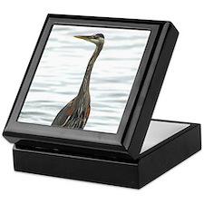 Great Blue Heron Bird Watcher photo Keepsake Box