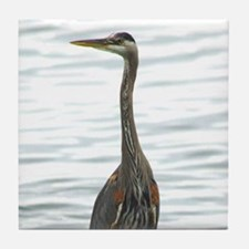 Great Blue Heron Bird Watcher photo Tile Coaster