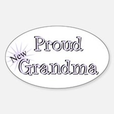 Proud New Grandma Oval Decal
