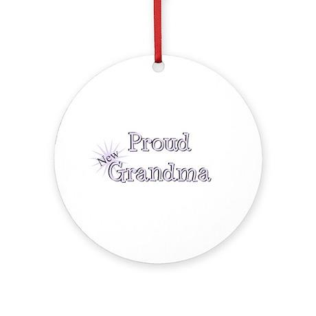 Proud New Grandma Ornament (Round)