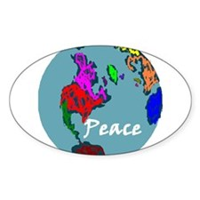 Peace on Earth Oval Decal