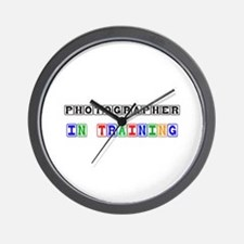Photographer In Training Wall Clock
