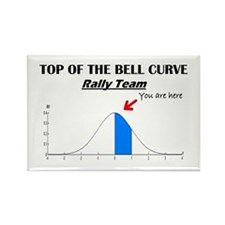 Top of the Bell Curve Rally Team Rectangle Magnet