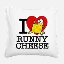 Cute I love cheese Square Canvas Pillow