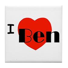I Love Ben Tile Coaster