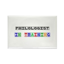 Philologist In Training Rectangle Magnet