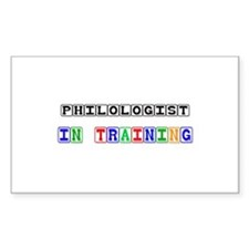 Philologist In Training Rectangle Sticker