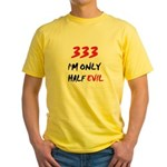 333 HALF EVIL Yellow T-Shirt
