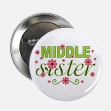 "Middle Sister Garden Flowers 2.25"" Button"