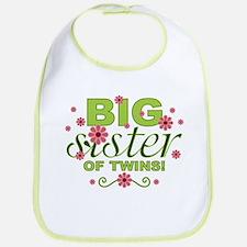 Big Sister of Twins Bib