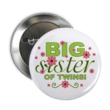 """Big Sister of Twins 2.25"""" Button (10 pack)"""