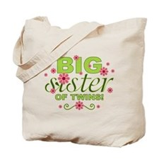 Big Sister of Twins Tote Bag