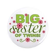"""Big Sister of Twins 3.5"""" Button"""