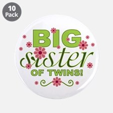 "Big Sister of Twins 3.5"" Button (10 pack)"