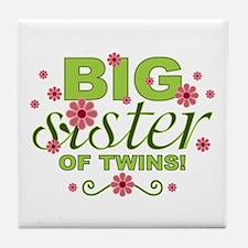 Big Sister of Twins Tile Coaster