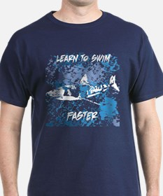 learn to swim great white white_edited-1 T-Shirt