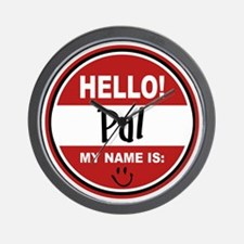 Hello my name is Pal Wall Clock