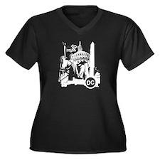 Washington DC Women's Plus Size V-Neck Dark T-Shir