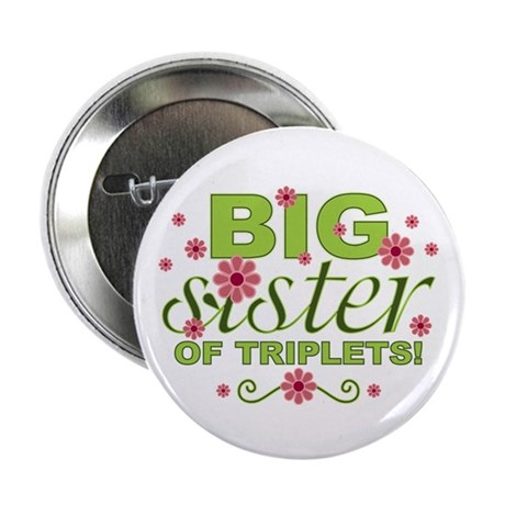 """Big Sister of Triplets 2.25"""" Button (100 pack)"""