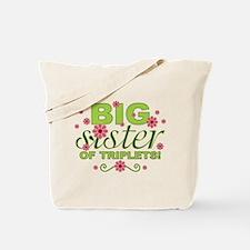 Big Sister of Triplets Tote Bag
