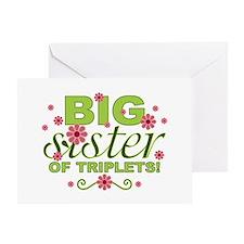 Big Sister of Triplets Greeting Card