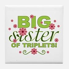 Big Sister of Triplets Tile Coaster