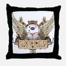 Soccer South Korea Throw Pillow