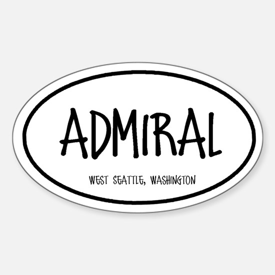 Admiral Oval Decal