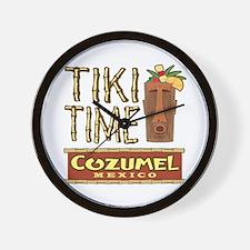Cozumel Tiki Time - Wall Clock