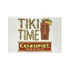 Cozumel Tiki Time - Rectangle Magnet