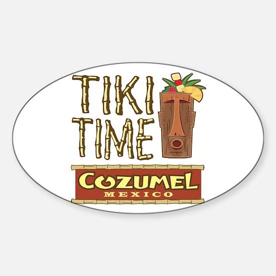 Cozumel Tiki Time - Oval Decal