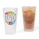 All you need is love Pint Glasses