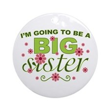 Big Sister Round Ornament