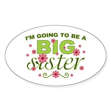 Big Sister To Be Oval Sticker (50 pk)