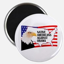 "Native Americans against Obama (2.25"" magnet)"