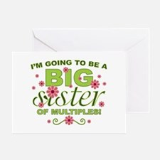 Big Sister To Be Multiples Greeting Card