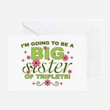 Big Sister To Be Triplets Greeting Card